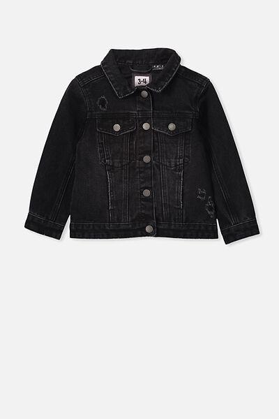 Lux Daisy Denim Jacket, LCN WB BLACK WASH/FRIENDS