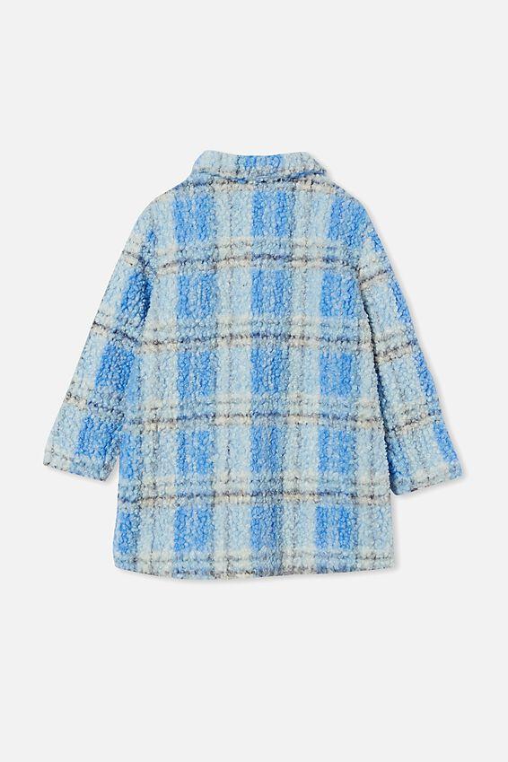 Cecilia Check Jacket, DUSK BLUE CHECK