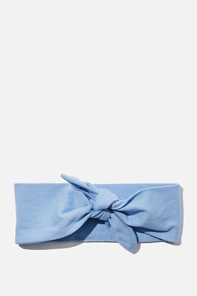 The Tie Headband, POWDER PUFF BLUE