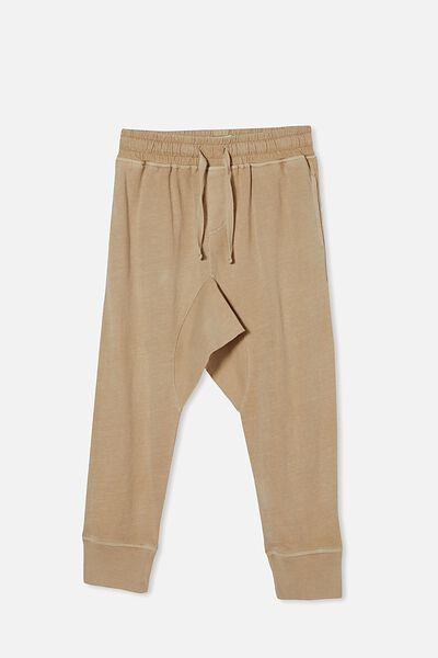 Raffy Drop Crotch Pant, SEMOLINA WASH