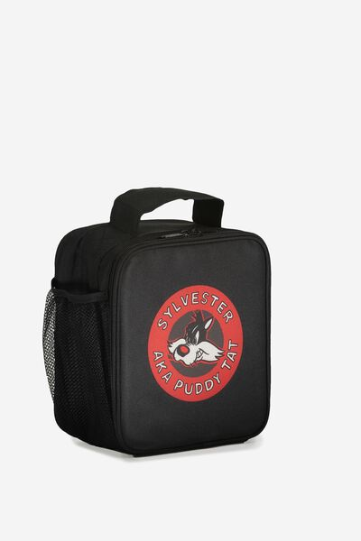 Licensed Personalised Lunch Bag, BLACK/SYLVESTER PERSONALISED
