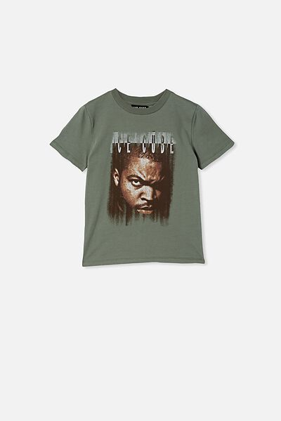 Co-Lab Short Sleeve Tee, LCN MT SWAG GREEN / ICE CUBE