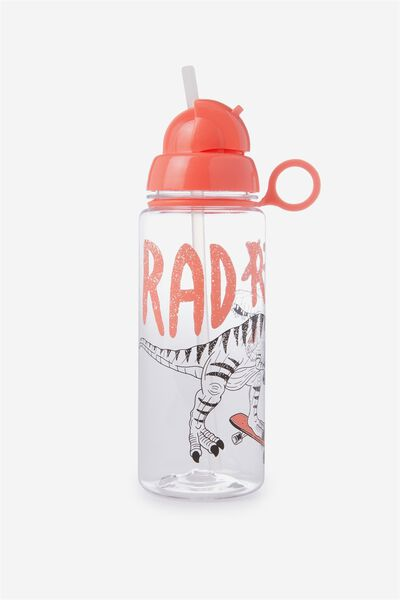 Spring Drink Bottle, RED/RAD REX