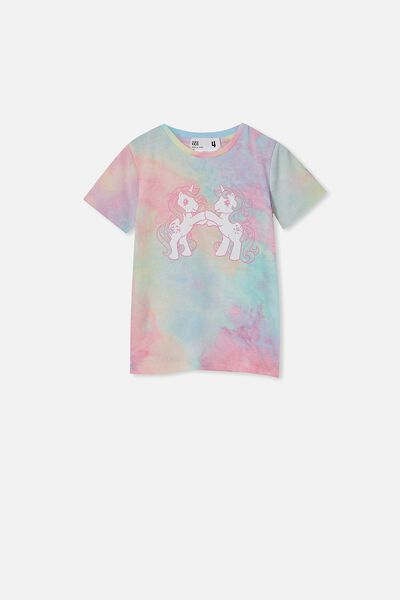License Short Sleeve Tee, LCN HAS RAINBOW TIE DYE/MY LITTLE PONY