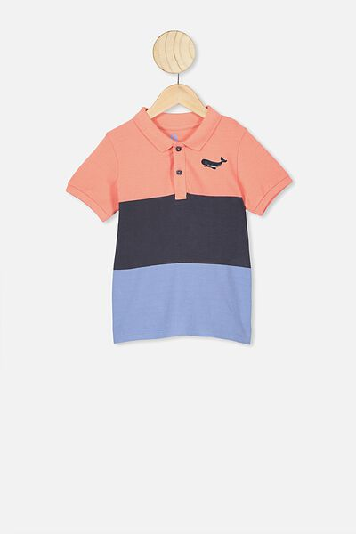 Kendricks Polo, ENGINEERED STRIPE/WHALE