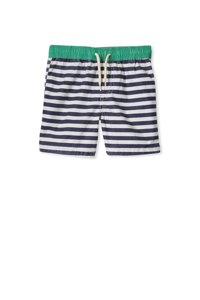 Murphy Swim Short, VANILLA/PEACOAT STRIPE