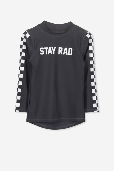 Fraser Long Sleeve Rash Vest, PHANTOM/STAY RAD