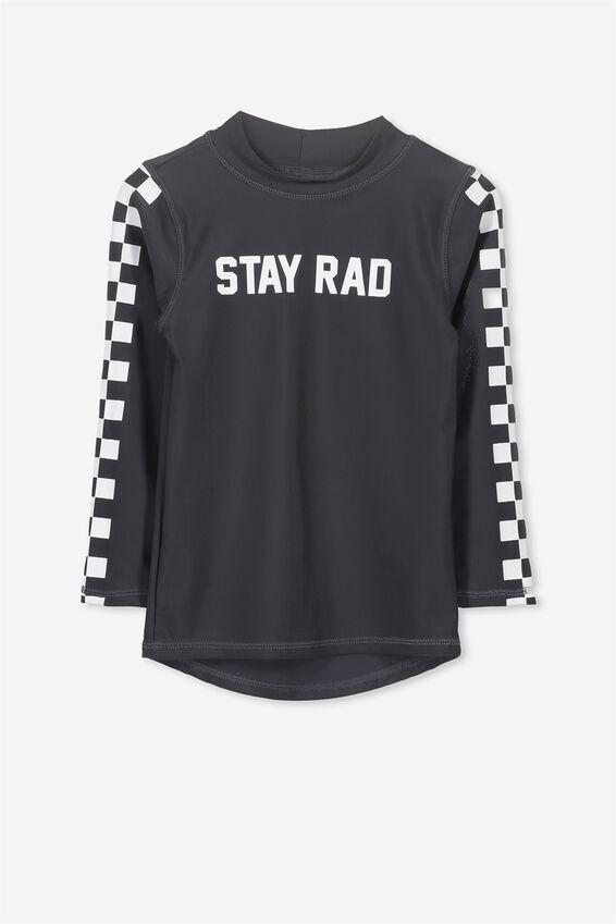Fraser Long Sleeve Rash Vest, PHANTOM/STAY RAD