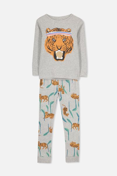 Harry Long Sleeve Boys PJ Set, SPORTS TIGER