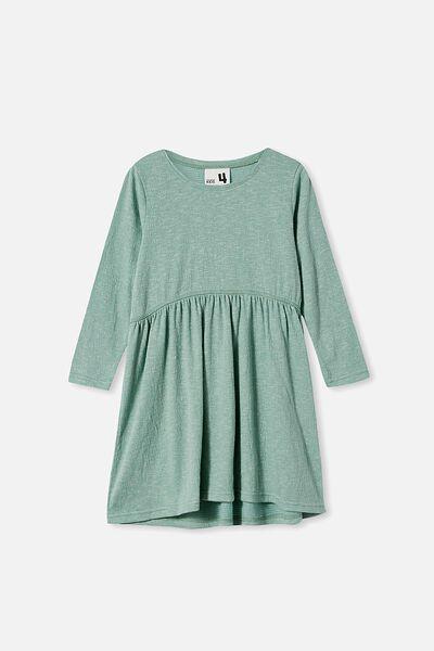 Freya Long Sleeve Dress, SMASHED AVO TEXTURE