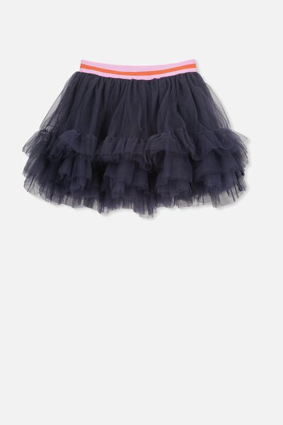 Trixiebelle Tulle Skirt, INK/RUFFLES