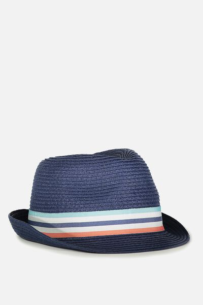 Trilby Hat, WASHED NAVY