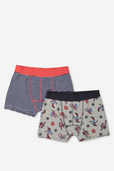 Boys 2Pk Licence Trunks, SPIDERMAN MIX