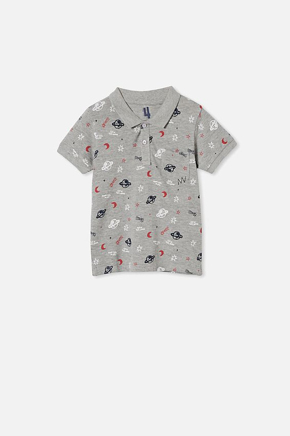 Kendricks Polo, GREY MARLE/OUT OF THIS WORLD