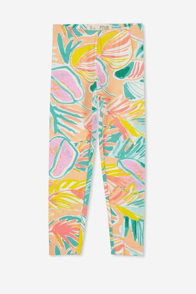 Huggie Tights, TROPICAL PAINTERLY FLORAL