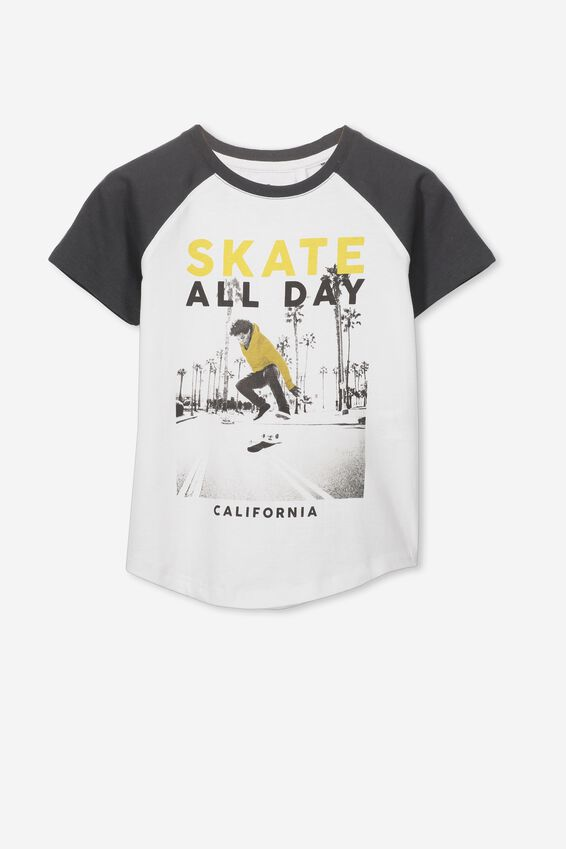 Max Short Sleeve Raglan Tee, SKATE ALL DAY/PHANTOM SLEEVES