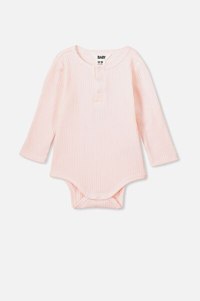 Ls Button Bubbysuit, CRYSTAL PINK
