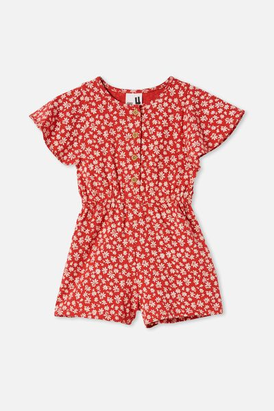 Clare Playsuit, LUCKY RED/DITSY FLORAL