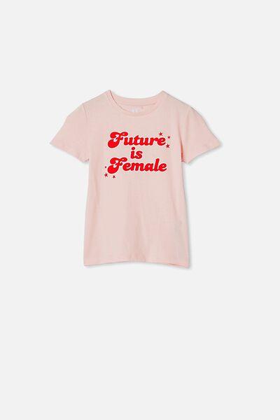 Penelope Short Sleeve Tee, CRYSTAL PINK/FUTURE IS FEMALE