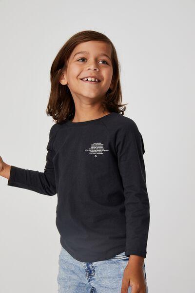 Max Long Sleeve Raglan Tee, PHANTOM /  WILD CHILD