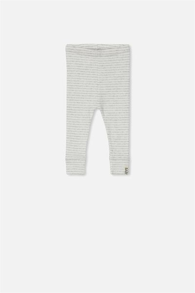 Mini Ribbed Legging, CLOUD MARLE/VANILLA STRIPE