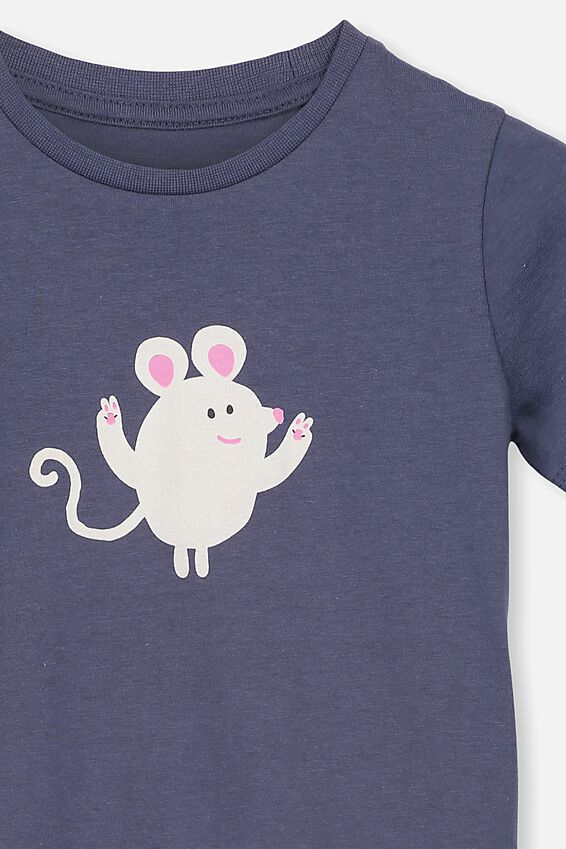 Penelope Short Sleeve Tee, VINTAGE NAVY/LUCKY MOUSE/MAX