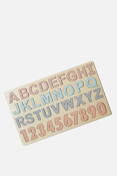 Wooden Puzzle, ABC123