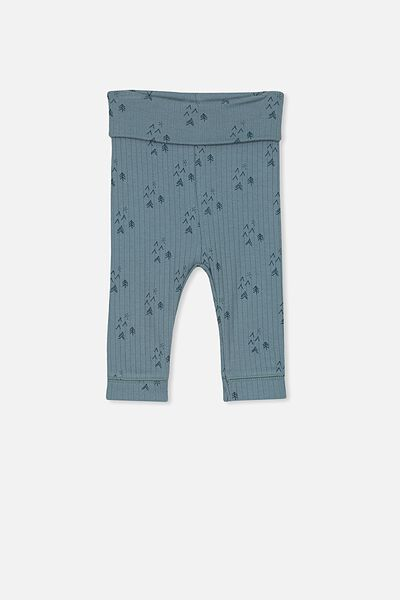 Newborn Legging, DEEP POOL BLUE/FOREST