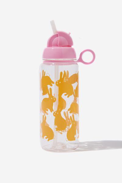 Spring Drink Bottle, YELLOW BUNNIES