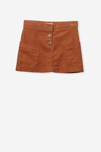 Rose Cord Skirt, SUNBURN