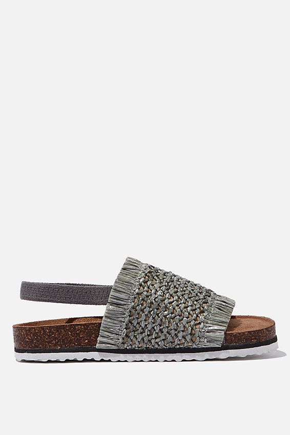 Fringed Thea Slingback, SILVER SAGE