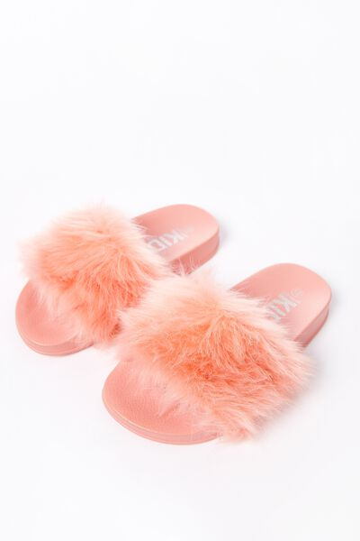 Fluffy Mini Wild Slide, PEACH LONG