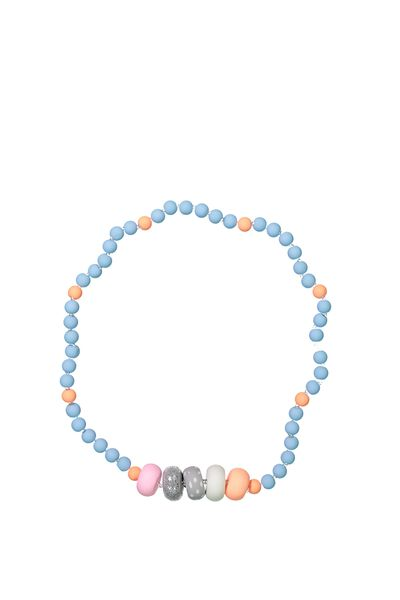 Mixed Beaded Necklace, EXCLUSIVE BLUE