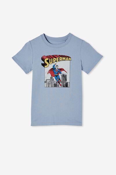 Short Sleeve License1 Tee, LCN WB DUSTY BLUE SUPERMAN COMIC