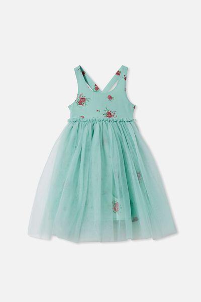Izzy Dress Up Dress, DUCK EGG/FLORAL