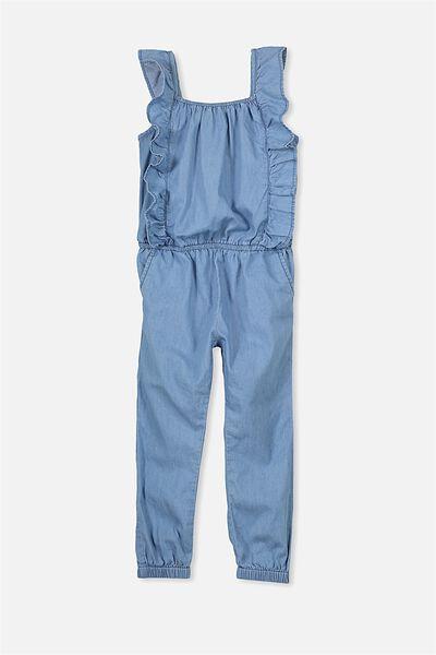 Kieri Long Jumpsuit, MID CHAMBRAY BLUE