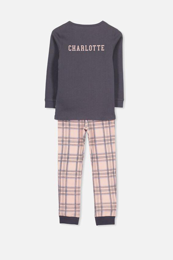Personalised Alicia Girls Long Sleeve Pyjama Set, PHOTO UNICORN PERSONALISED