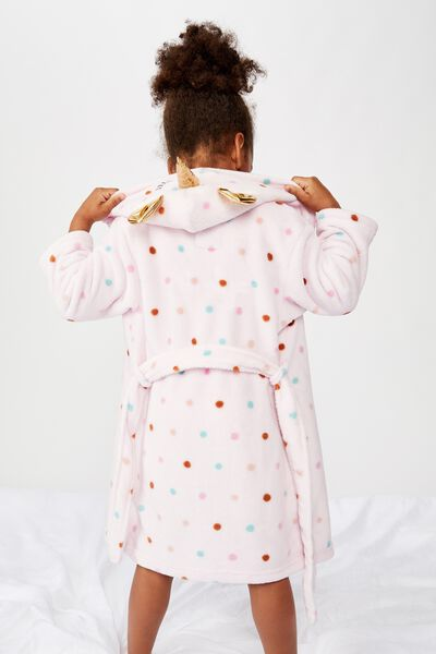 Girls Long Sleeve Gown, UNICORN POLKA DOT