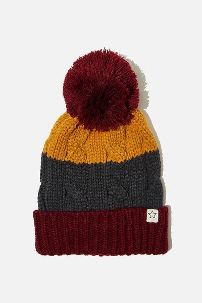 Winter Knit Beanie, BERRY SPLICE