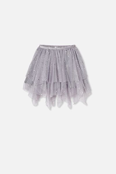 Trixiebelle Dress Up Skirt, STORMY SILVER/SPARKLE HEARTS