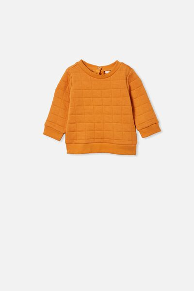 Scout Quilted Sweater, BURNT SQUASH