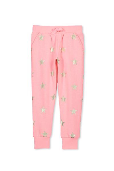 Kikii Sweatpant, PINK GRAPEFRUIT MARLE /GOLD STAR