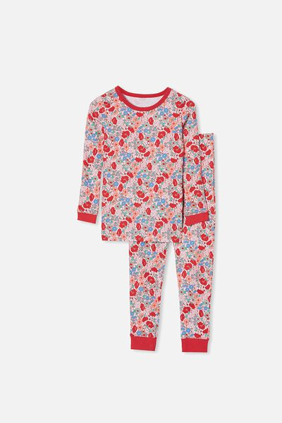 Lila Long Sleeve Pajama Set, LIBERTY FLORAL PINK QUARTZ