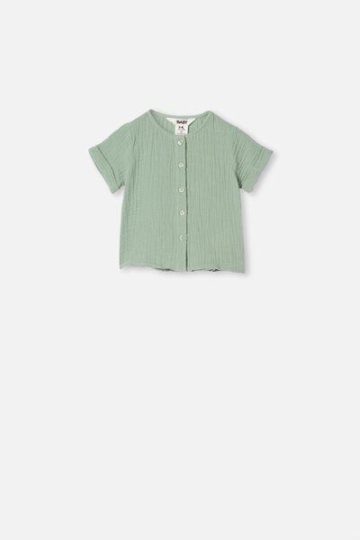 Mike Short Sleeve Shirt, SMASHED AVO