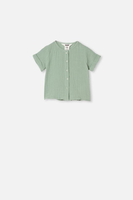 Mike Short Sleeve Shirt, SMASHED AVO