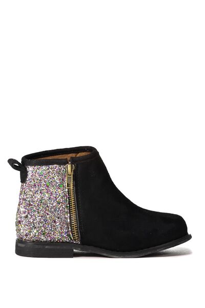Lexi Ankle Boot With Zip, BLACK/MULTI