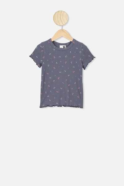 Billie Short Sleeve Tee, VINTAGE NAVY FLORAL FIELDS