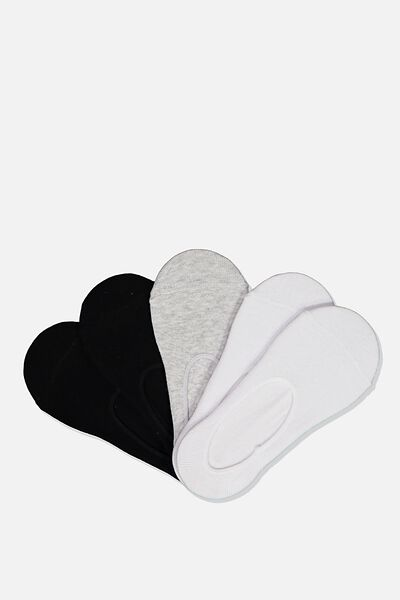 Kids No Show Sock 5Pk, WHITE/BLACK/GREY