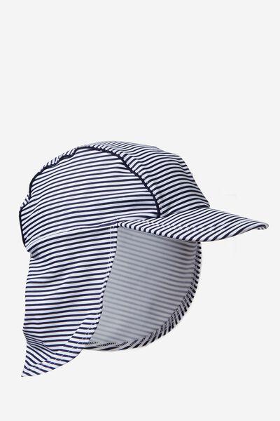 Swim Hat, PEACOAT/PINSTRIPE