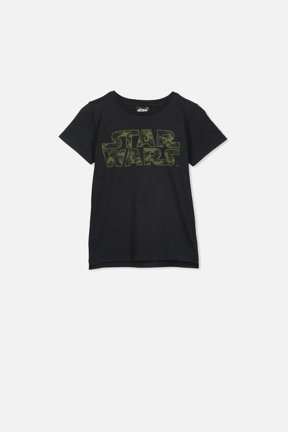 Short Sleeve License1 Tee, LCN LU CAMO/STAR WARS LOGO